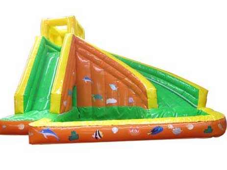 Inflatable quality pool slide combos
