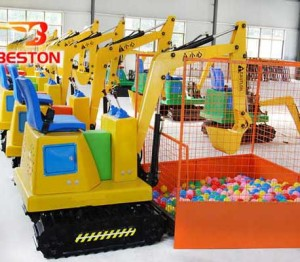 Small excavator for little kids ride