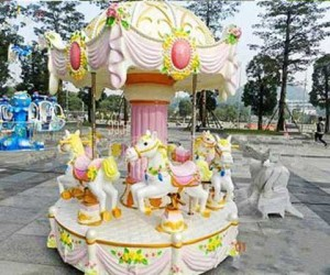 Kiddie small carousel ride